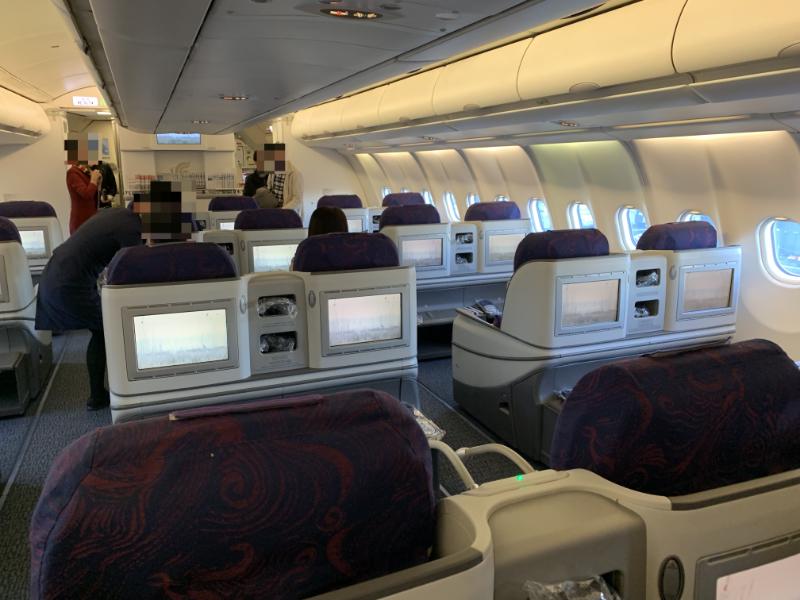 中国国際航空機内