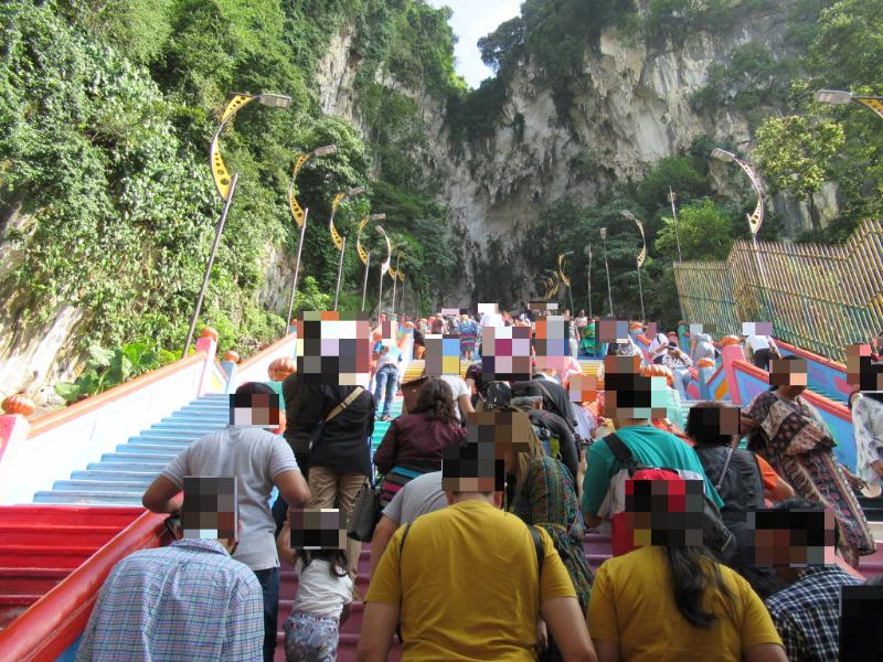 バトゥ洞窟階段
