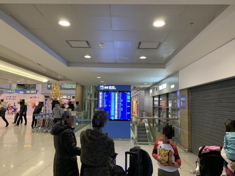 仁川国際空港フライトボード