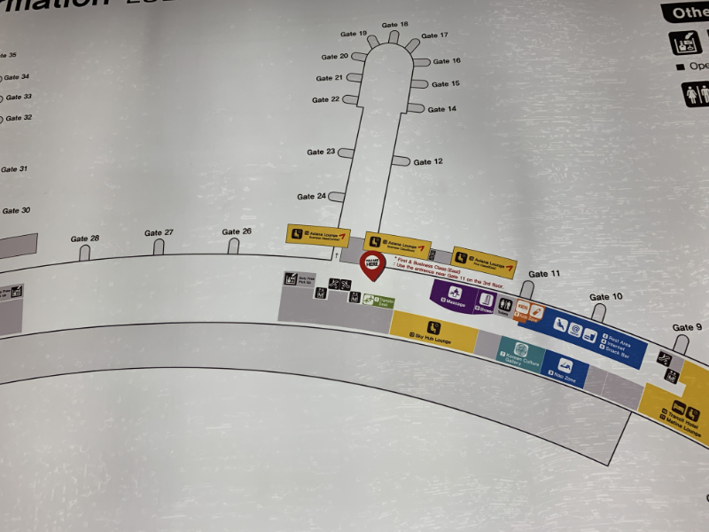 アシアナ航空ラウンジ地図