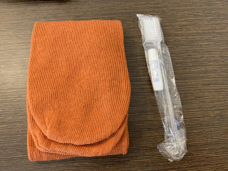 靴下と歯ブラシ