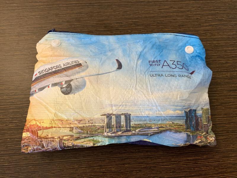 シンガポール航空アメニティポーチ