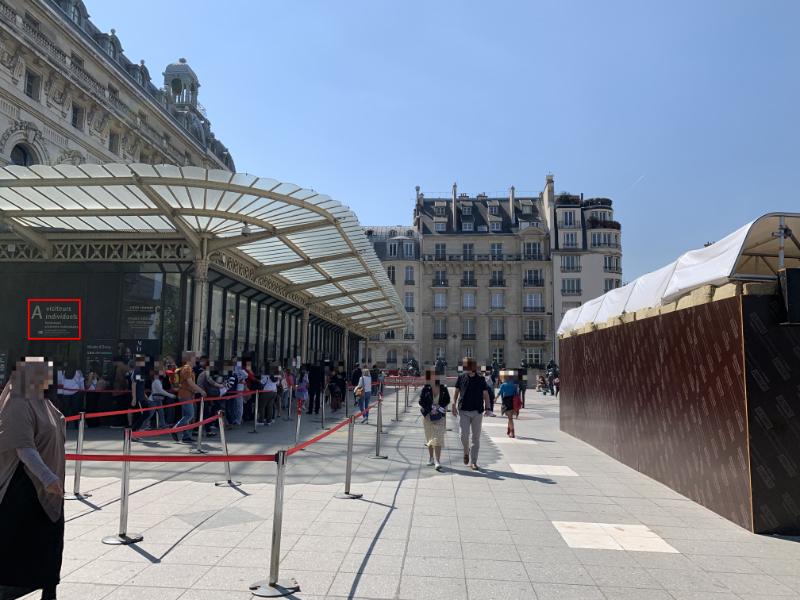 オルセー美術館入口