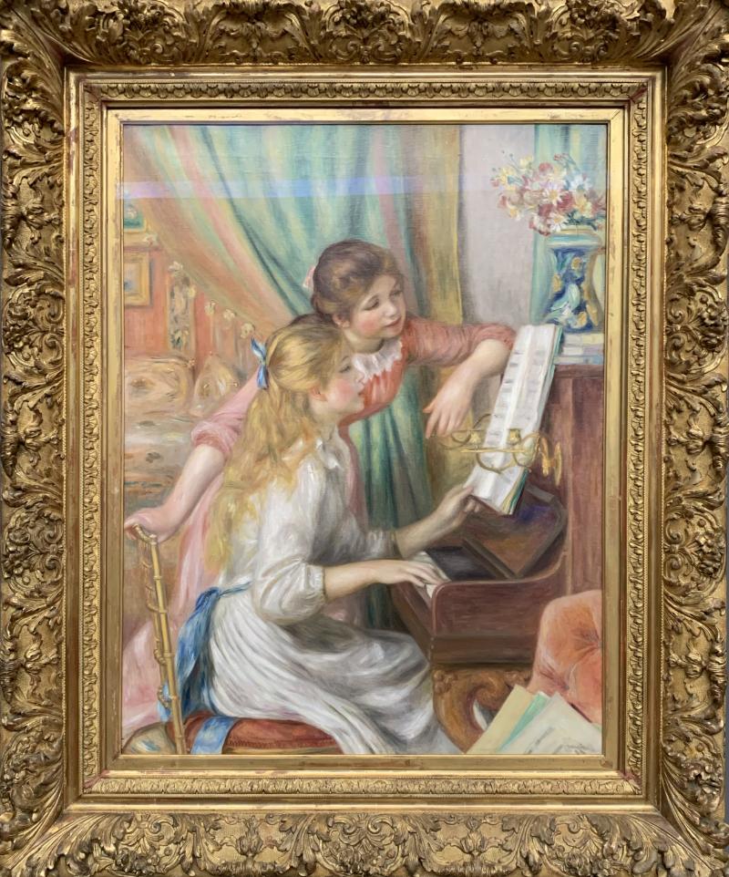 ピアノに寄る娘たち