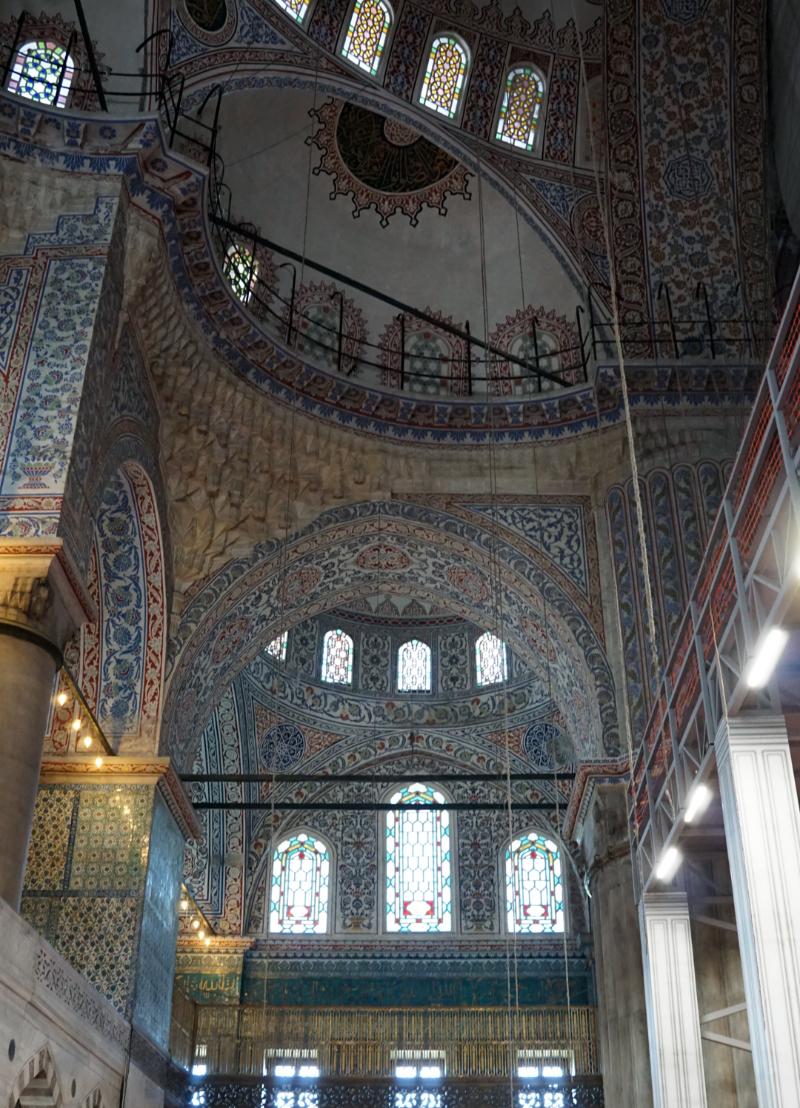 スルタンアフメットモスク内部