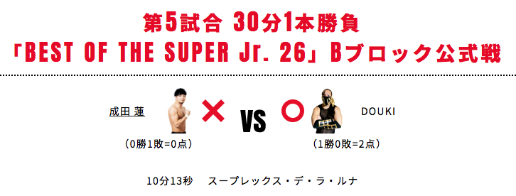 BEST OF THE SUPER JR. 26 Bブロック1