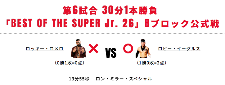 BEST OF THE SUPER JR. 26 Bブロック2