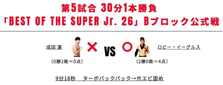 成田蓮 vs ロビー・イーグルス