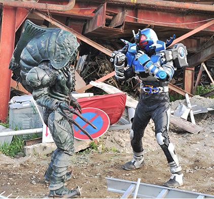 仮面ライダーガタック vs ワーム