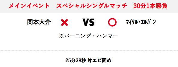 マイケル・エルガン vs 関本大介