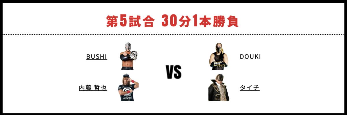 内藤哲也&BUSHI vs タイチ&DOUKI