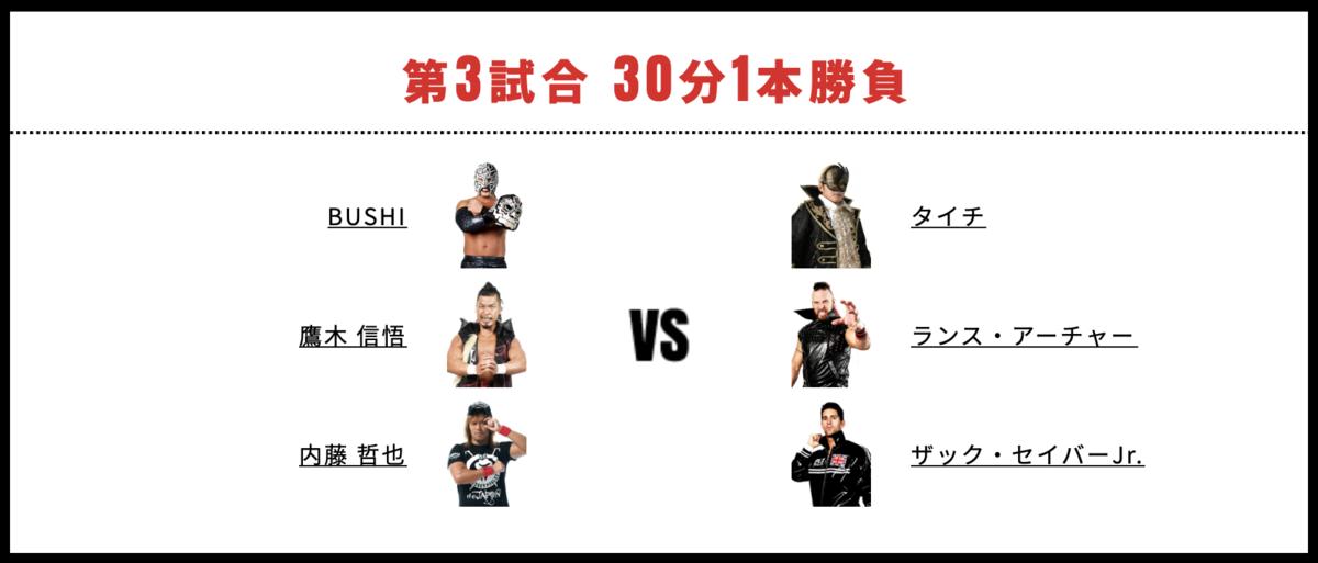 内藤哲也&鷹木信悟&BUSHI vs ザック・セイバーJr.&ランス・アーチャー&タイチ