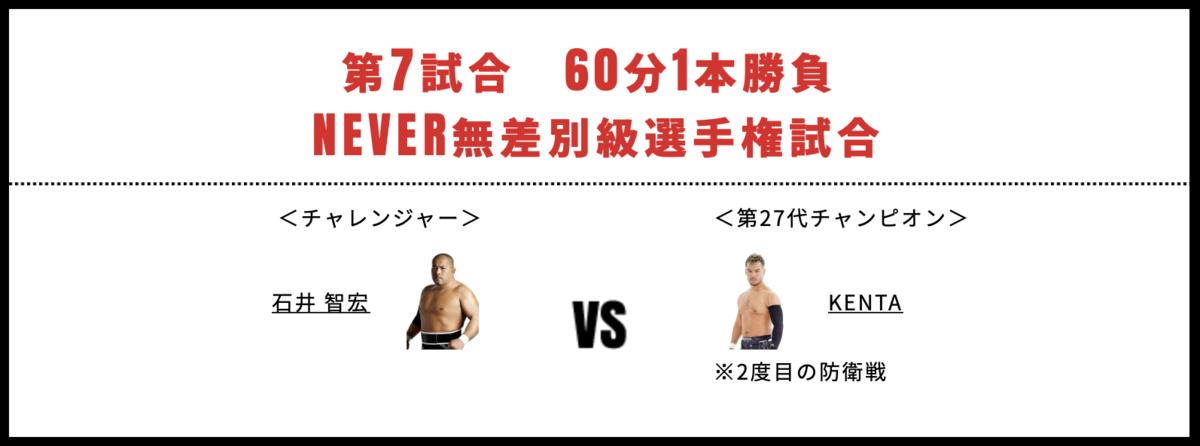 NEVER無差別級選手権試合:KENTA vs 石井智宏