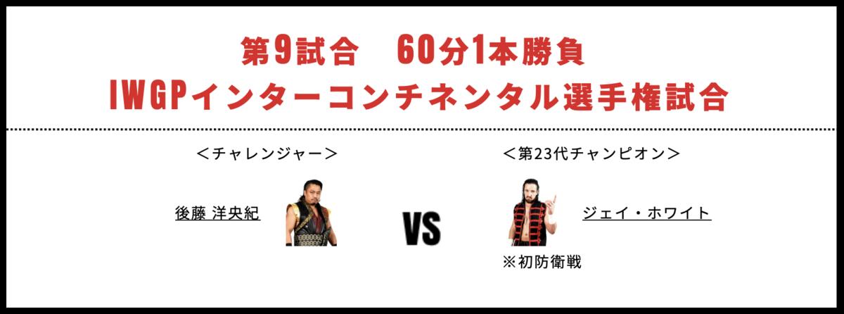 IWGPインターコンチネンタル選手権試合:ジェイ・ホワイト vs 後藤洋央紀