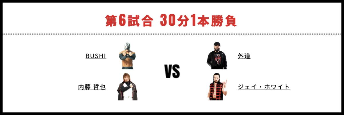 内藤哲也&BUSHI vs ジェイ・ホワイト&外道