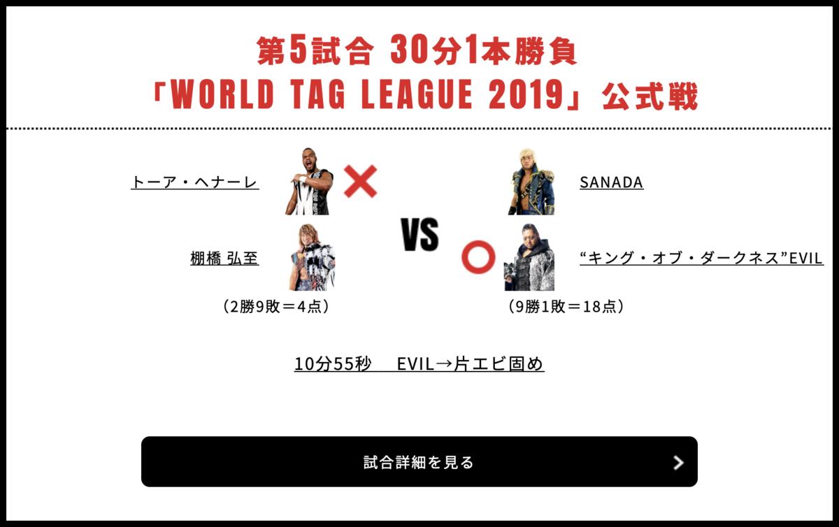 棚橋弘至&トーア・ヘナーレ vs EVIL&SANADA