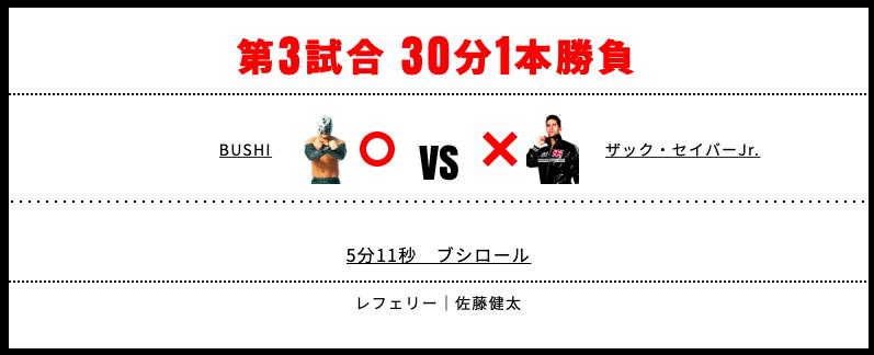 BUSHI vs ザック・セイバーJr.