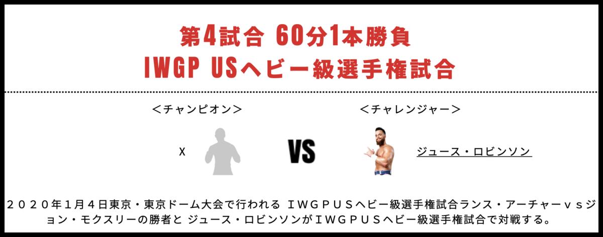 IWGPUSヘビー級選手権試合:X vs ジュース・ロビンソン