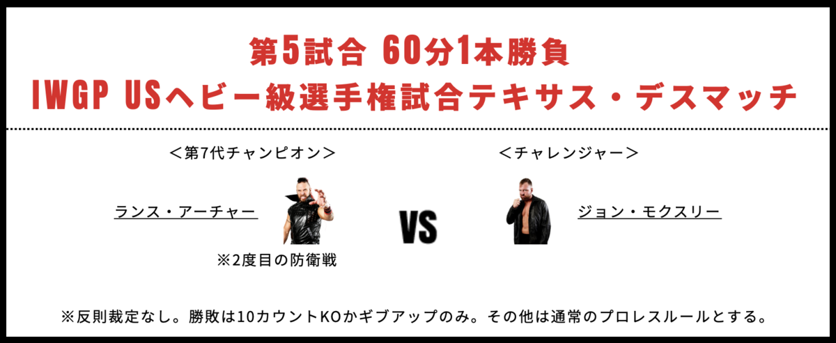 IWGPUSヘビー級選手権試合:ランス・アーチャー vs ジョン・モクスリー