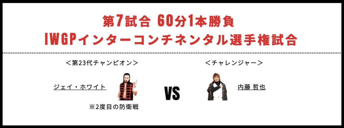 IWGPインターコンチネンタル選手権試合:ジェイ・ホワイト vs 内藤哲也
