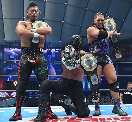 NEVER6人タッグチャンピオン:EVIL&鷹木信悟&BUSHI