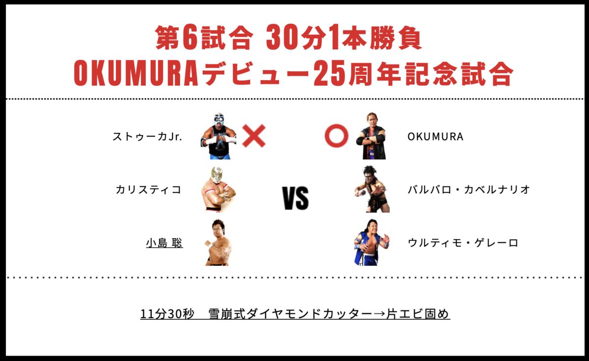 小島聡&カリスティコ&ストゥーカJr. vs ウルティモ・ゲレーロ&バルバロ・カベルナリオ&OKUMURA