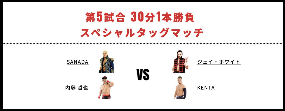 内藤哲也&SANADA vs KENTA&ジェイ・ホワイト