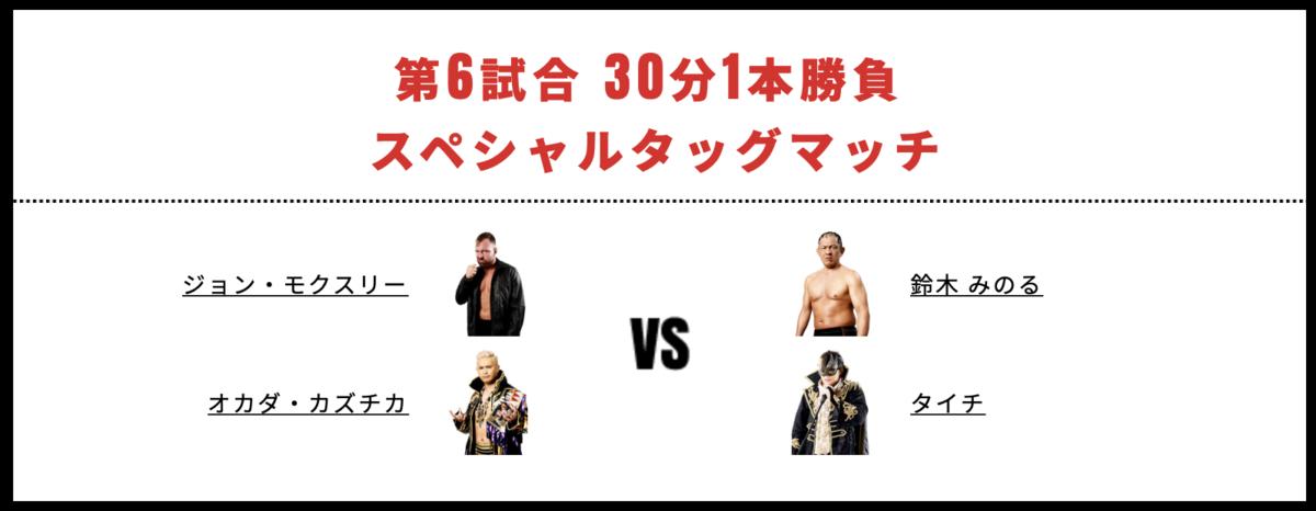 オカダ・カズチカ&ジョン・モクスリー vs タイチ&鈴木みのる