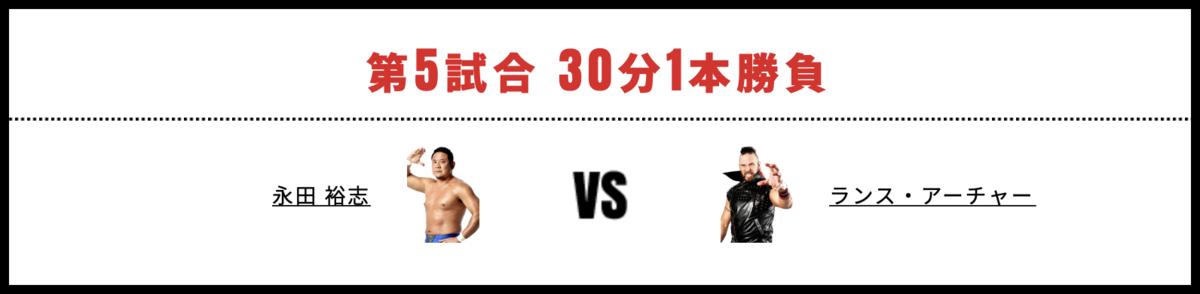 永田裕志 vs ランス・アーチャー