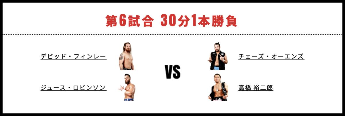 ジュース・ロビンソン&デビッド・フィンレー vs チェーズ・オーエンズ&高橋裕二郎