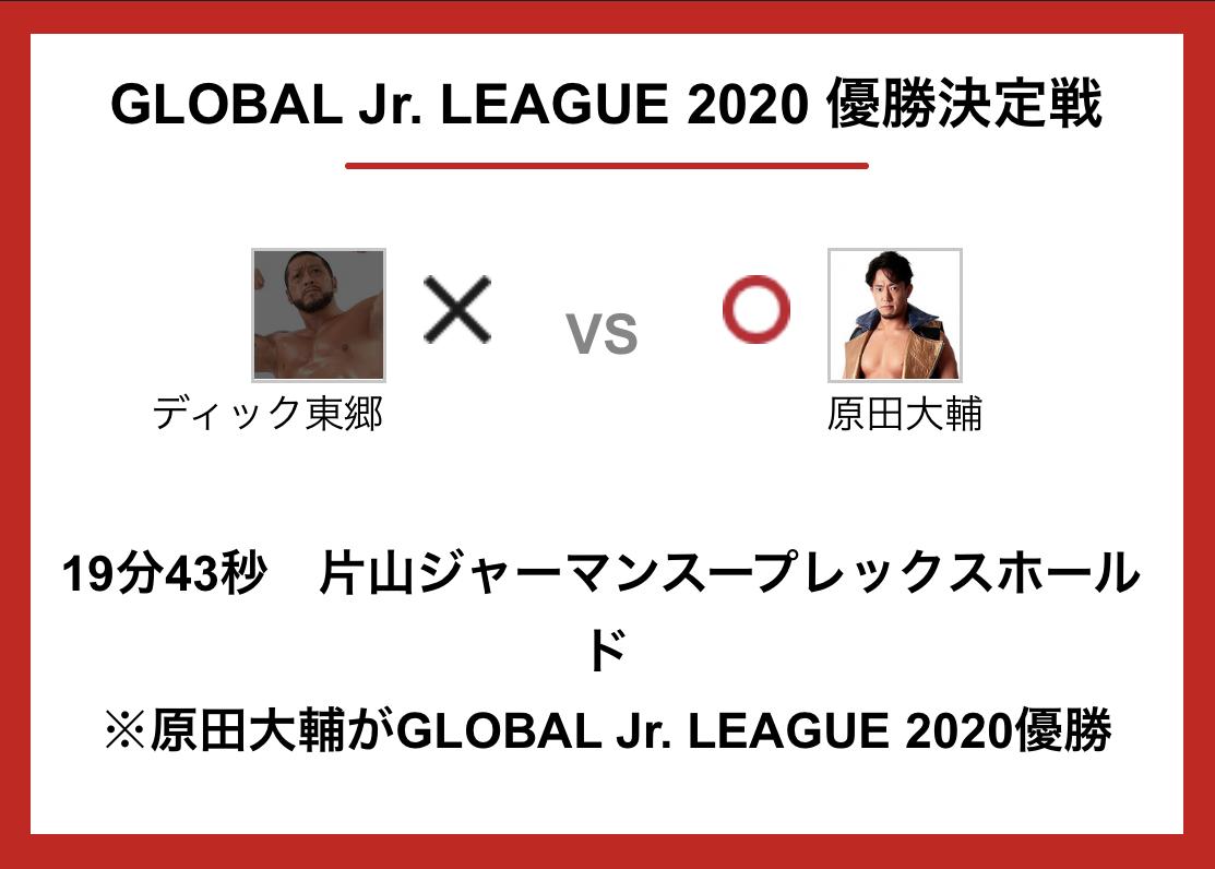 グローバルジュニアリーグ優勝決定戦:原田大輔 vs ディック東郷
