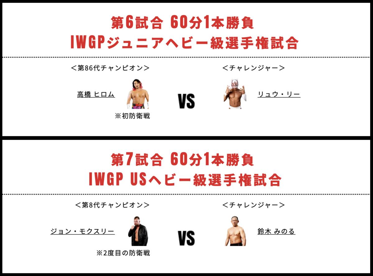 大阪城ホール大会2つのタイトルマッチ