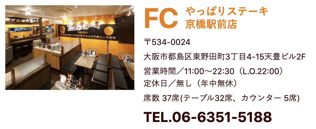 やっぱりステーキ京橋駅前店