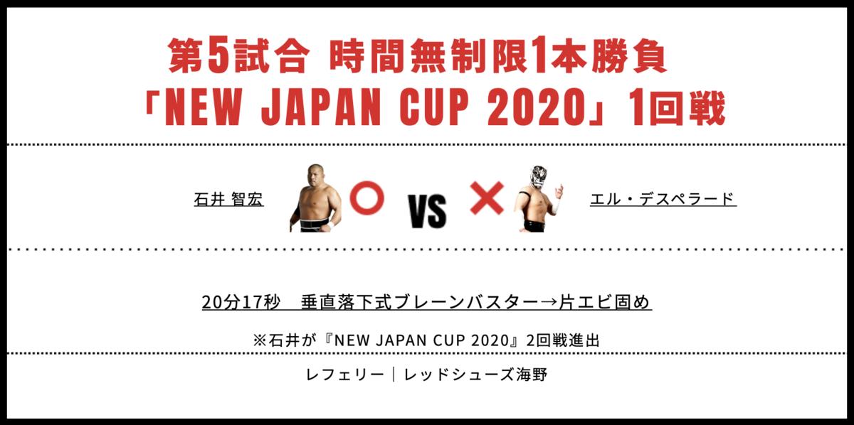 石井智宏 vs エル・デスペラード