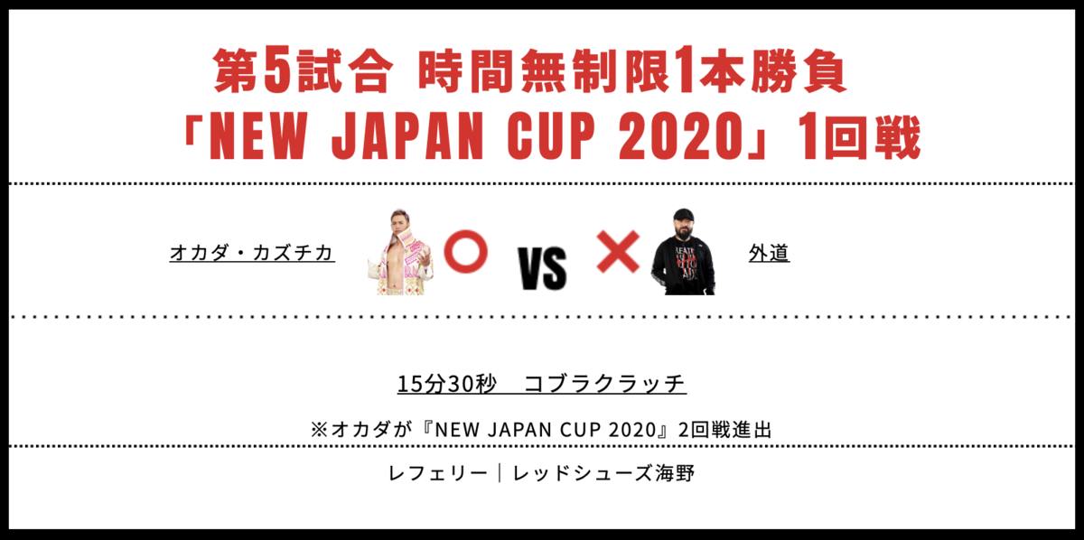 オカダ・カズチカ vs 外道