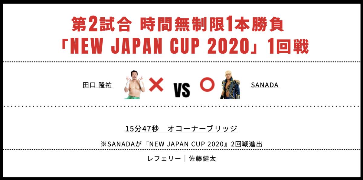田口隆祐 vs SANADA