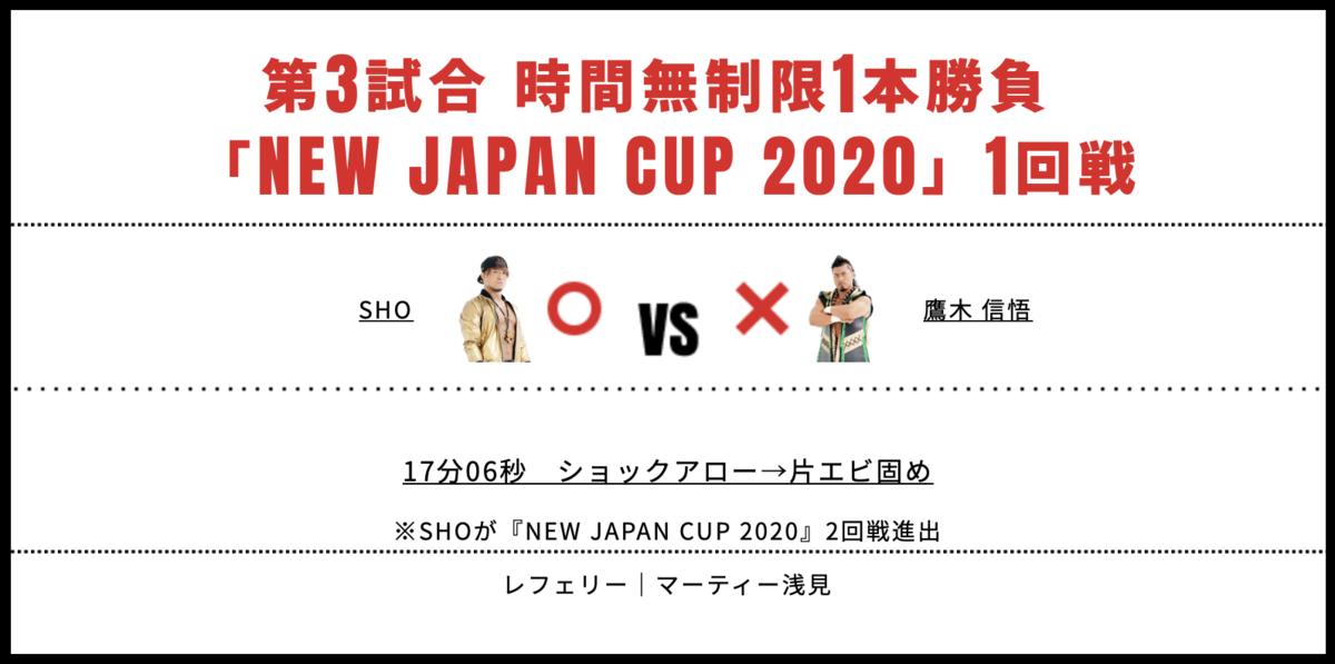 SHO vs 鷹木信悟