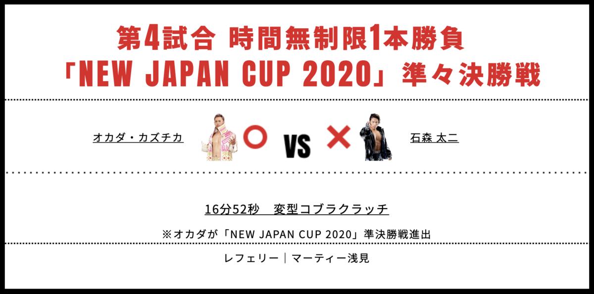 オカダ・カズチカ vs 石森太二