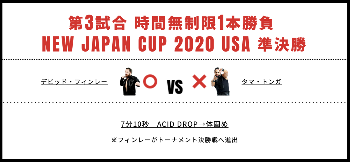 NEW JAPAN CUP 2019準決勝