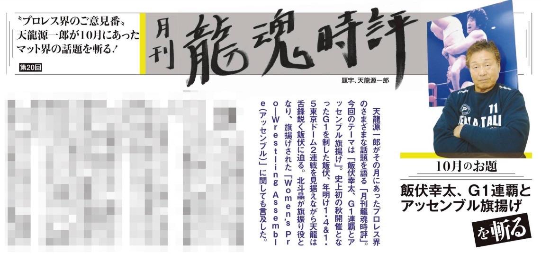 天龍源一郎の月刊龍魂時評