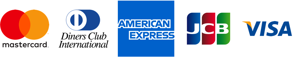 mastercard/visa/jcb/dinersclub/americanexpress