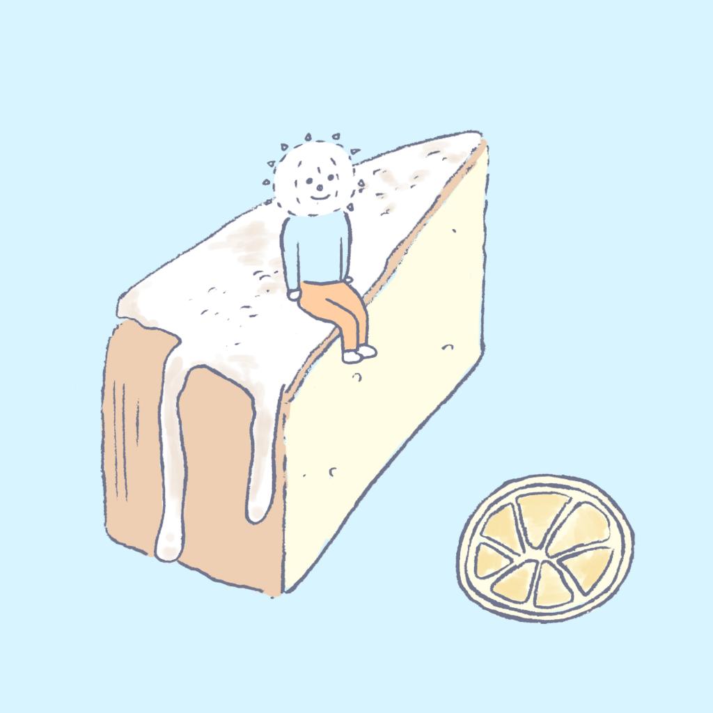 レモンケーキとイコール君