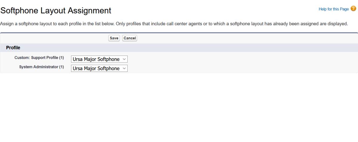 """Softphone Layout Assignment"" のスクリーンショット"