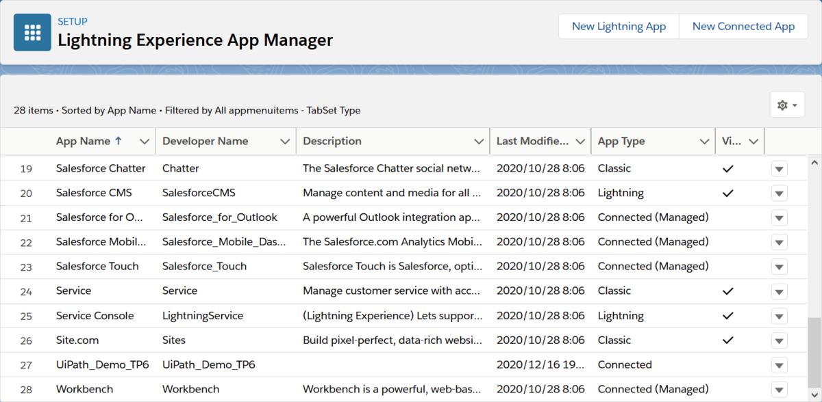 """Lightning Experience App Manager""のスクリーンショット"