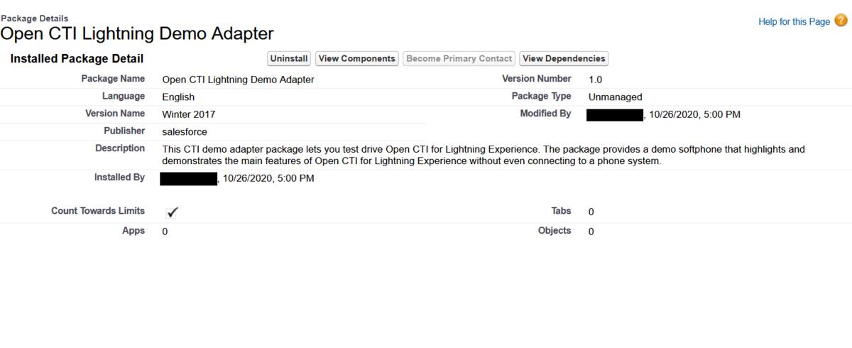 """""""Open CTI Lightning Demo Adapter"""" のスクリーンショット"""