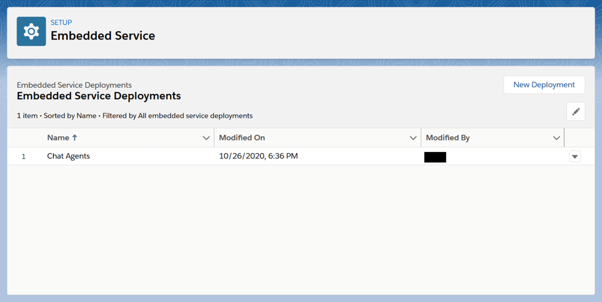 """Embedded Service Deployments""のスクリーンショット"