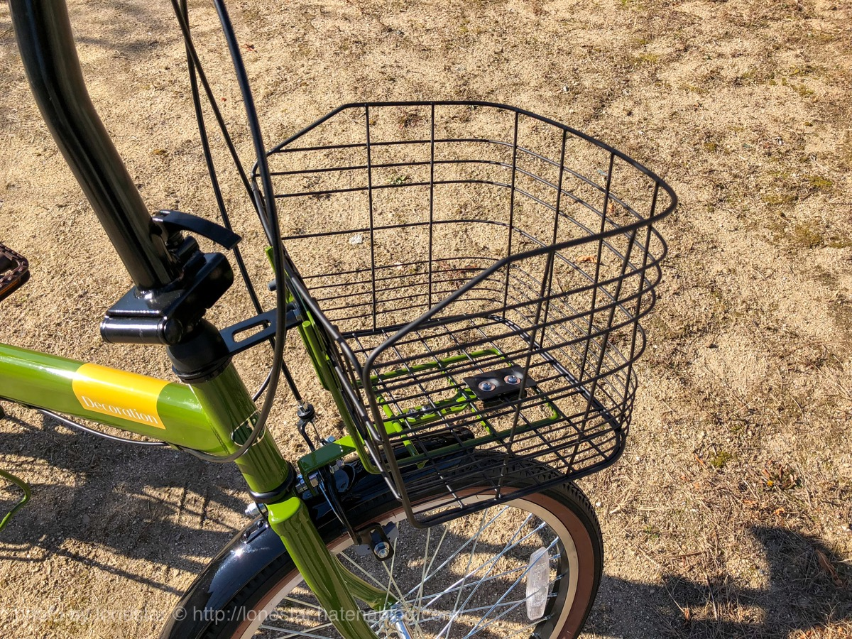 折りたたみ自転車 カゴ