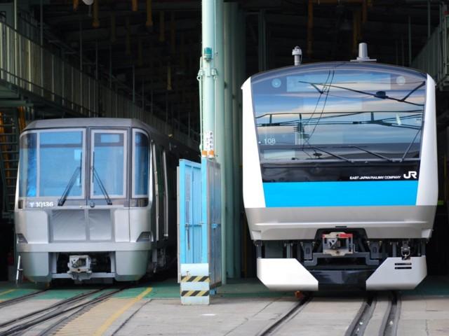 個別「グリーンライン10000形と京浜東北線E233系1000番台@川重」の写真、画像、動画 - 鉄道関連 ...