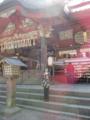富士浅間神社 階段上の男性傍に顔?