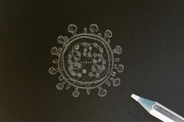 ウイルス(手書き) photo by photoAC